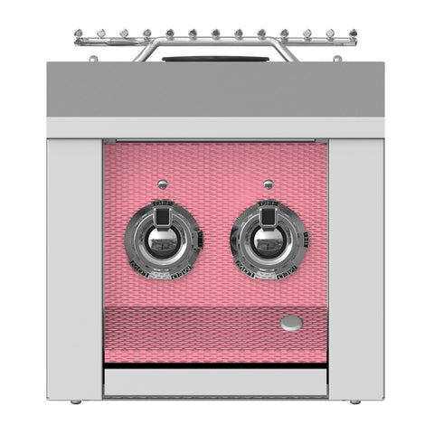 Aspire by Hestan 12-Inch Propane Gas Built-In Double Side Burner (Reef Pink) - AEB122-LP-PK