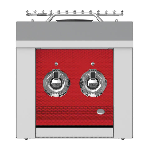 Aspire by Hestan 12-Inch Propane Gas Built-In Double Side Burner (Matador Red) - AEB122-LP-RD