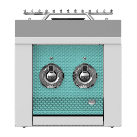 Aspire by Hestan 12-Inch Natural Gas Built-In Double Side Burner (Bora Bora Turquoise) - AEB122-NG-TQ
