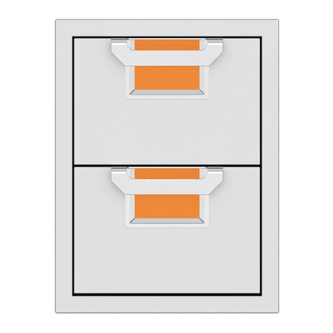 Aspire by Hestan 16-Inch Double Storage Drawers (Citra Orange) - AEDR16-OR