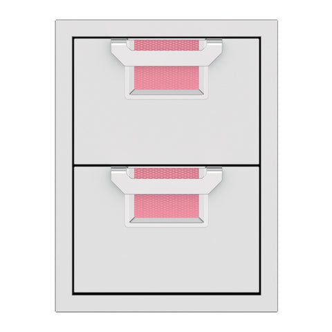 Aspire by Hestan 16-Inch Double Storage Drawers (Reef Pink) - AEDR16-PK