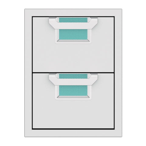 Aspire by Hestan 16-Inch Double Storage Drawers (Bora Bora Turquoise) - AEDR16-TQ