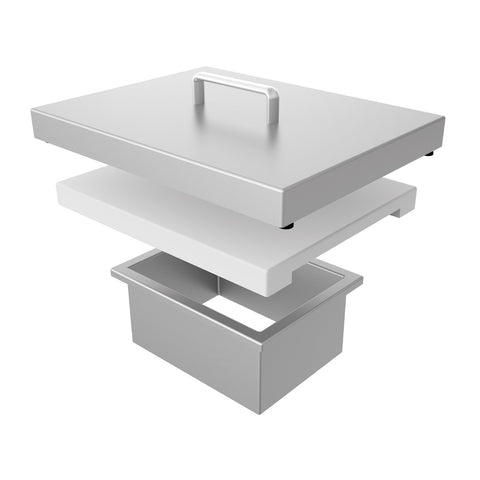 Aspire by Hestan Countertop Trash Chute w/ Cutting Board and Stainless Steel Cover - AETC