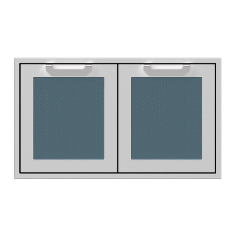 Hestan 36-Inch Double Access Doors w/ Recessed Marquise Accented Panels in Dark Gray - AGAD36-GG