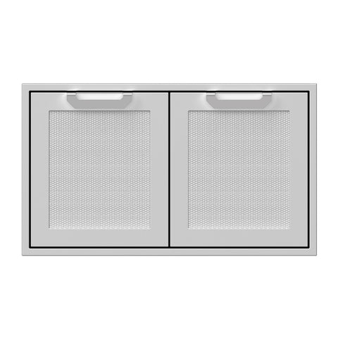 Hestan 36-Inch Double Access Doors w/ Recessed Marquise Accented Panels in Stainless Steel - AGAD36
