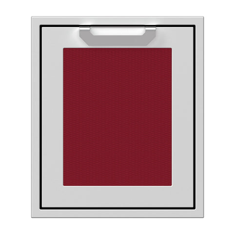 Hestan 18-Inch Single Access Door w/ Recessed Marquise Accented Panel (Left Hinge) in Burgundy - AGADL18-BG