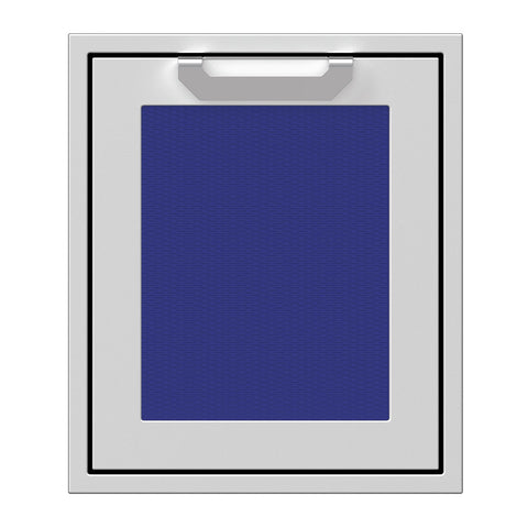 Hestan 18-Inch Single Access Door w/ Recessed Marquise Accented Panel (Left Hinge) in Blue - AGADL18-BU