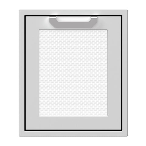 Hestan 18-Inch Single Access Door w/ Recessed Marquise Accented Panel (Left Hinge) in White - AGADL18-WH