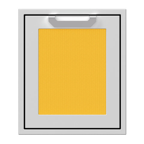 Hestan 18-Inch Single Access Door w/ Recessed Marquise Accented Panel (Right Hinge) in Yellow - AGADR18-YW