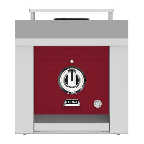 Hestan 12-Inch Natural Gas Built-In/Freestanding Grill Mounted Single Side Burner in Burgundy - AGB121-NG-BG