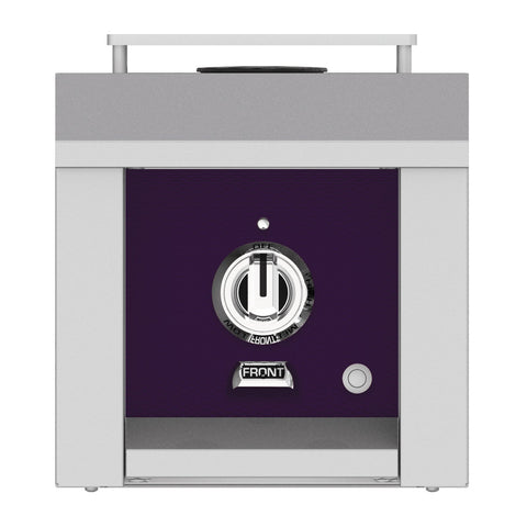 Hestan 12-Inch Propane Gas Built-In/Freestanding Grill Mounted Single Side Burner in Purple - AGB121-LP-PP