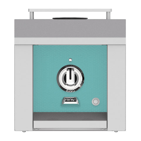 Hestan 12-Inch Propane Gas Built-In/Freestanding Grill Mounted Single Side Burner in Turquoise - AGB121-LP-TQ