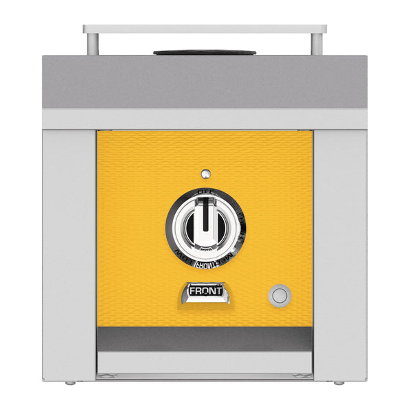 Hestan 12-Inch Propane Gas Built-In/Cart Mounted Single Side Burner in Yellow - AGB121-LP-YW