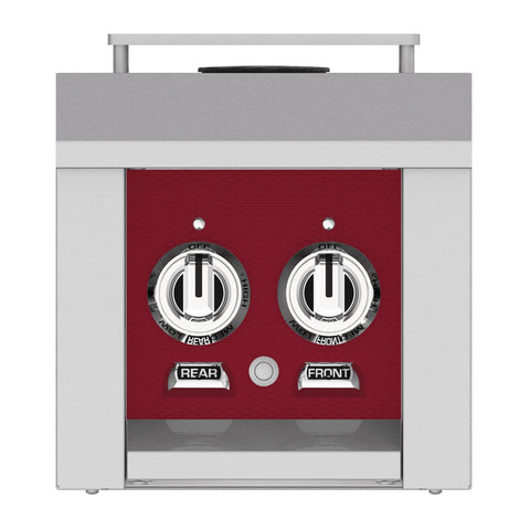Hestan 12-Inch Natural Gas Built-In/Cart Mounted Double Side Burner in Burgundy - AGB122-NG-BG