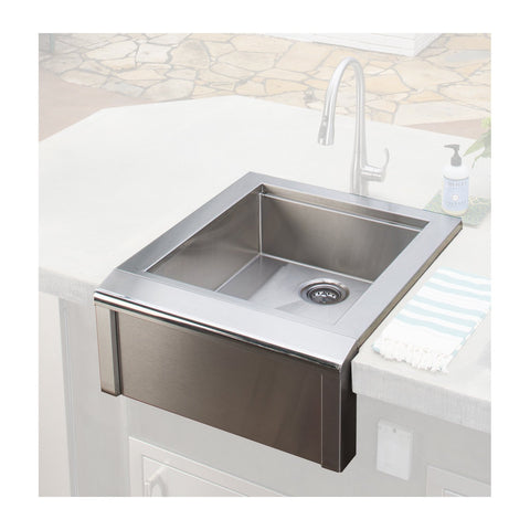 Alfresco 24-Inch Built-In Bartender & Sink System (No Faucet Included) - AGBC-24