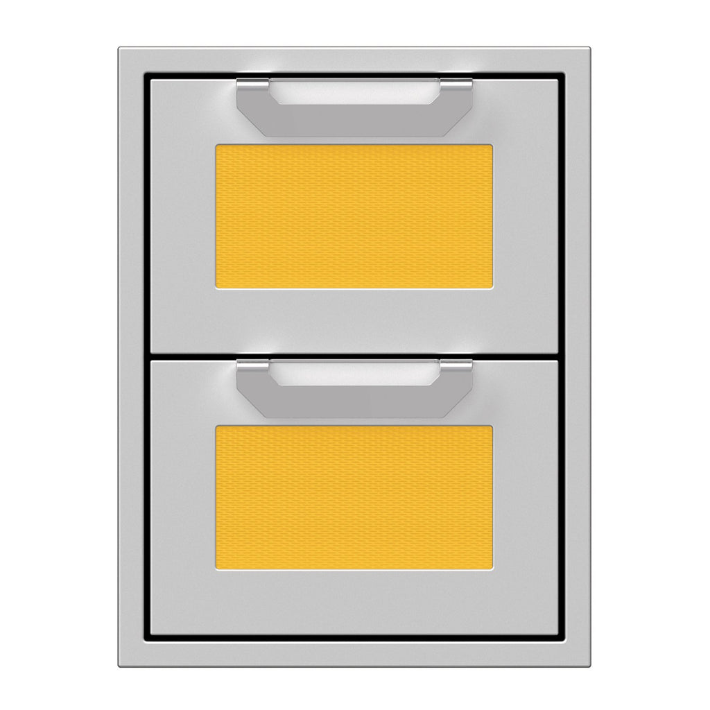 Hestan 16-Inch Double Drawers w/ Recessed Marquise Accented Panels in Yellow - AGDR16-YW