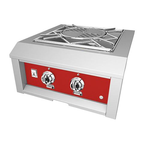 Hestan 24-Inch Propane Gas Built-In Power Burner in Red - AGPB24-LP-RD