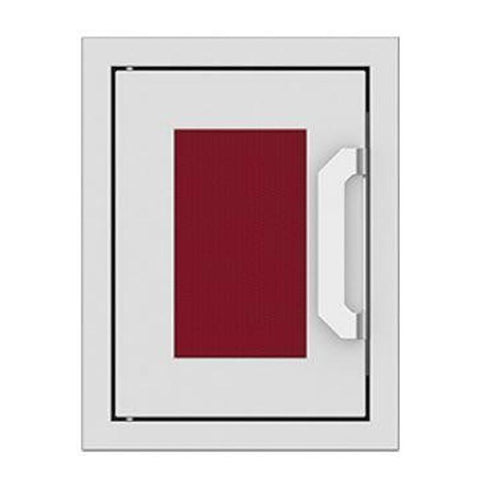 Hestan 16-Inch Paper Towel Dispenser w/ Recessed Marquise Accent Panel in Burgundy - AGPTD16-BG