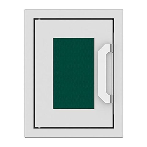 Hestan 16-Inch Paper Towel Dispenser w/ Recessed Marquise Accent Panel in Green - AGPTD16-GR