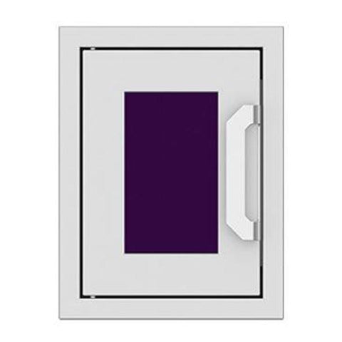 Hestan 16-Inch Paper Towel Dispenser w/ Recessed Marquise Accent Panel in Purple - AGPTD16-PP