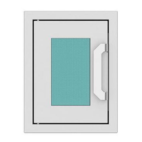 Hestan 16-Inch Paper Towel Dispenser w/ Recessed Marquise Accent Panel in Turquoise - AGPTD16-TQ