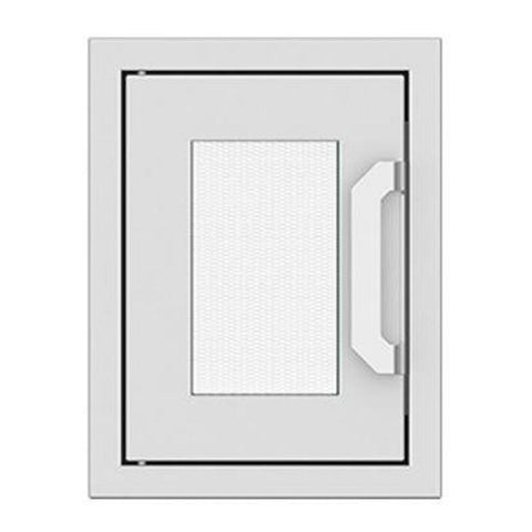 Hestan 16-Inch Paper Towel Dispenser w/ Recessed Marquise Accent Panel in White - AGPTD16-WH