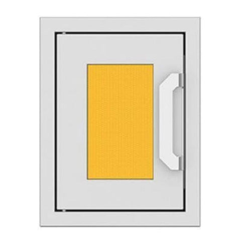 Hestan 16-Inch Paper Towel Dispenser w/ Recessed Marquise Accent Panel in Yellow - AGPTD16-YW