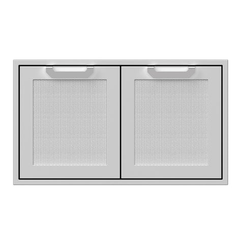 Hestan 36-Inch Double Access Door Propane Tank and Storage Cabinet w/ Recessed Marquise Accent Panel in Stainless Steel - AGSD36