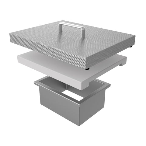 Hestan Countertop Trash Chute and Cutting Board w/ Marquise Accent Cover - AGTC