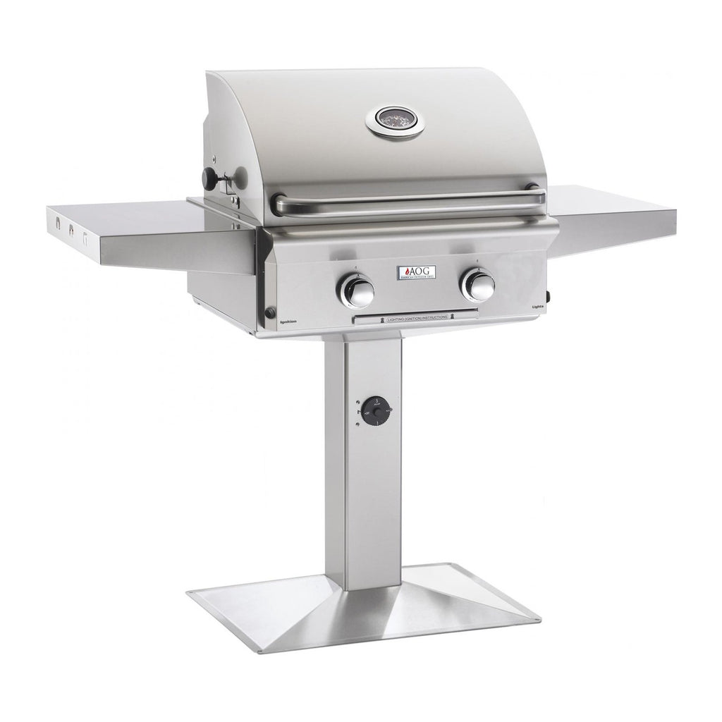 American Outdoor Grill Propane Gas 24-Inch L-Series 2-Burner Grill on Pedestal - 24PPL-00SP