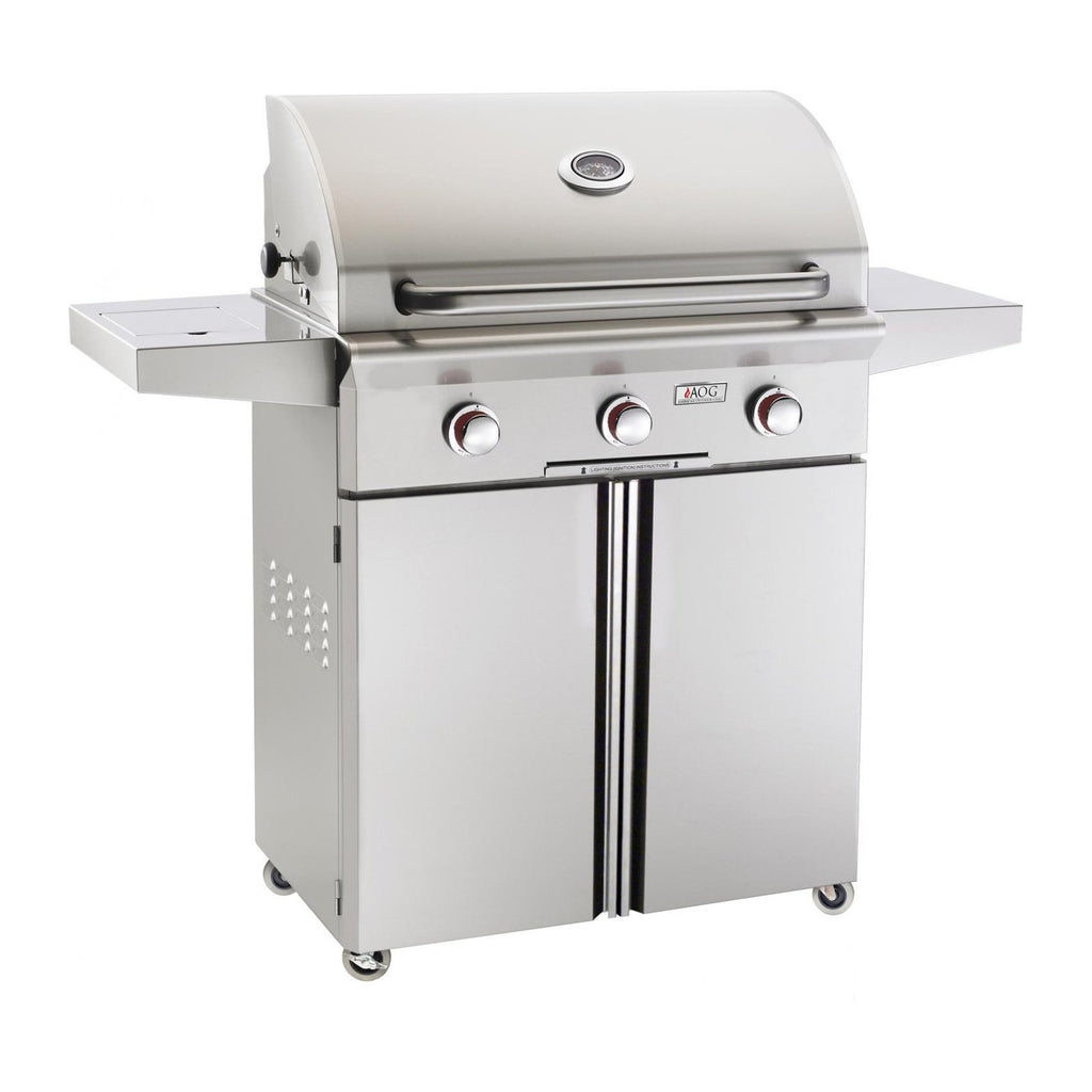 American Outdoor Grill Propane Gas 30-Inch T-Series 3-Burner Freestanding Grill - 30PCT-00SP