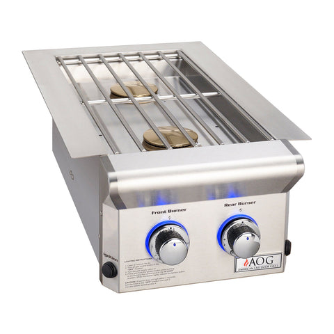 American Outdoor Grill Natural Gas Drop-In Double Side Burner for L-Series Grill - 3282L