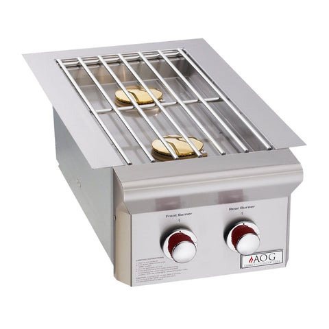 American Outdoor Grill Propane Gas Built-In Double Side Burner for T-Series Grill - 3282PT