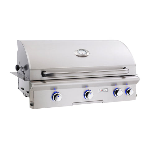 American Outdoor Grill Propane Gas 36-Inch L-Series 3-Burner Built-In Grill w/ Rotisserie Backburner and High Performance Rotisserie Kit - 36PBL