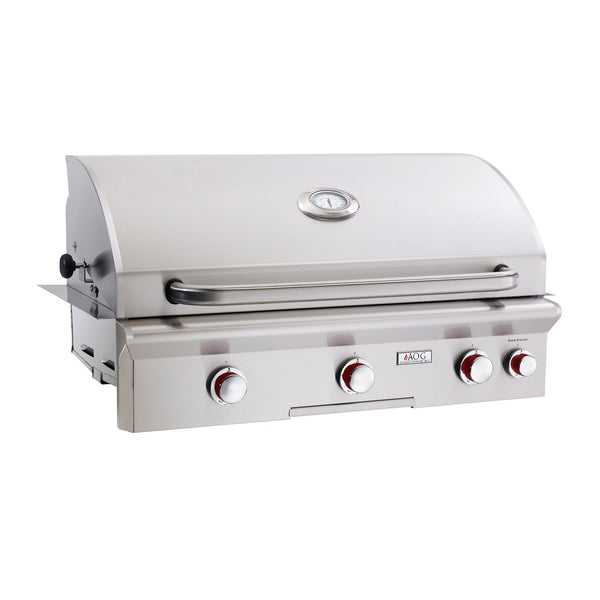 American Outdoor Grill Propane Gas 36-Inch T Series 3-Burner Built-In Grill w/ Rotisserie Backburner and High Performance Rotisserie Kit - 36PBT