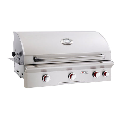 American Outdoor Grill Propane Gas 36-Inch T-Series 3-Burner Built-In Grill w/ Rotisserie Backburner and High Performance Rotisserie Kit - 36PBT