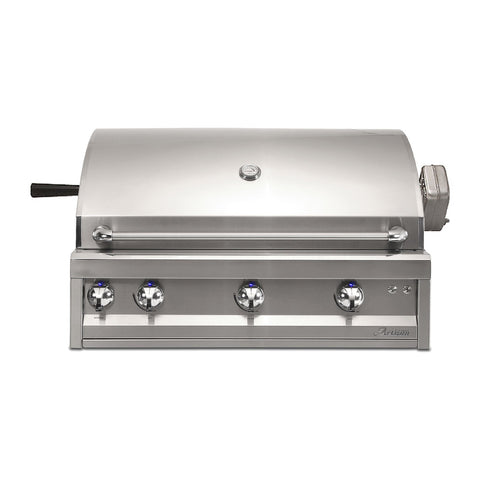 Artisan Professional 36-Inch Natural Gas Built-In Gill w/ Rotisserie and Lights - ARTP-36-NG