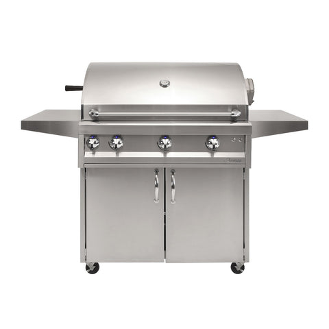 Artisan Professional 36-Inch Propane Gas Freestanding Gill w/ Rotisserie and Lights - ARTP-36C-LP