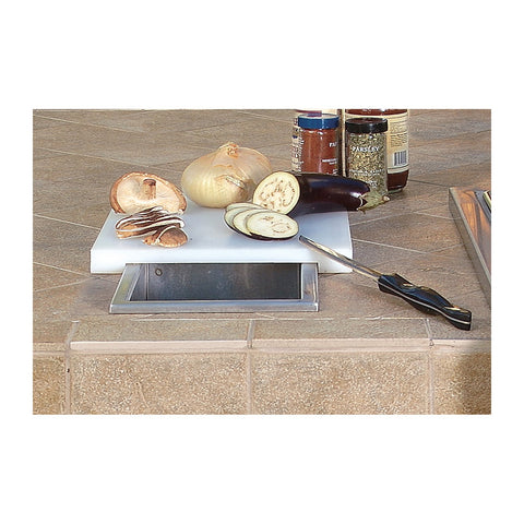 Artisan Countertop Prep and Waste Chute w/ Cutting Board and Cover - ARTP-PWC