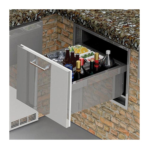 Alfresco 26-Inch Insulated Under Counter Ice Drawer and Beverage Center - AXE-ID