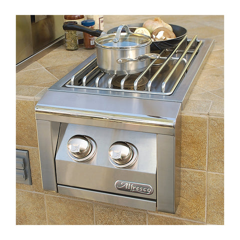 Alfresco 14-Inch Natural Gas Built-In Double Side Burner - AXESB-2-NG
