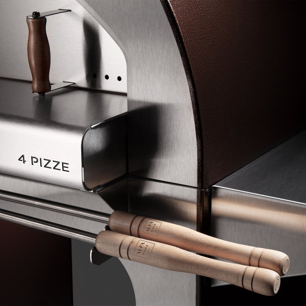 Alfa 4 Pizze 31-Inch Wood Fired Countertop Pizza Oven (Copper) - FX4P-LRAM-T