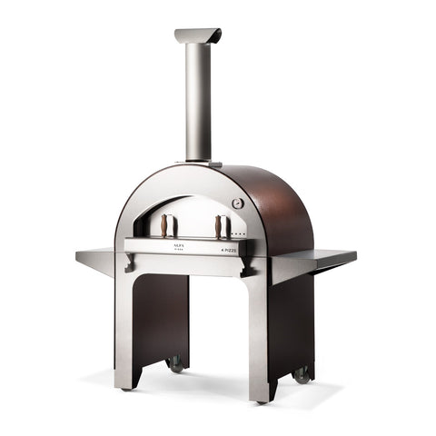 Alfa 4 Pizze 31-Inch Wood Fired Freestanding Pizza Oven w/ Base (Copper) - FX4PIZ-LRAM