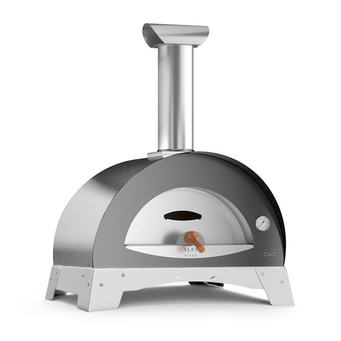 Alfa Ciao M 27-Inch Wood Fired Countertop Pizza Oven (Silver Gray) - FXCM-LGRI-T-V2