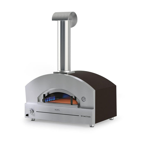 Alfa Stone 31-Inch Propane Gas Countertop Pizza Oven (Copper) - FXSTONE-L-LP