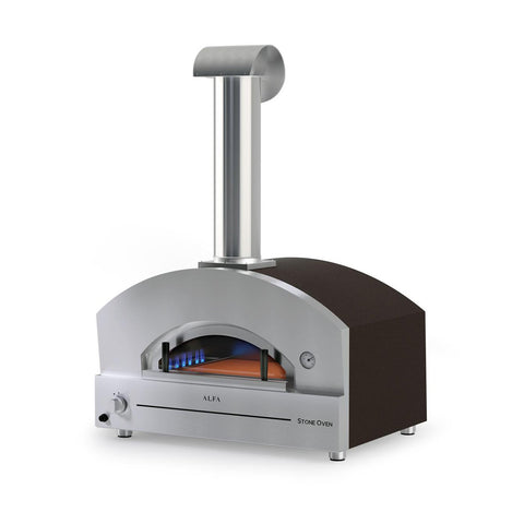 Alfa Stone 27-Inch Natural Gas Countertop Pizza Oven (Copper) - FXSTONE-M-NG