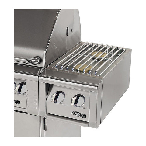 Alfresco 14-Inch Natural Gas Cart Mounted Double Side Burner for Freestanding Grills - AXESB-2C-NG