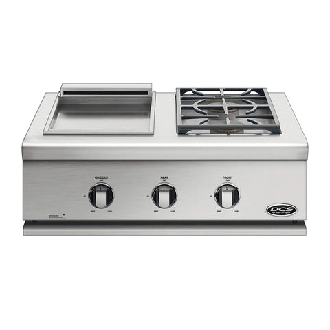 DCS Series 7 30-Inch Built-In Propane Gas Double Side Burner w/ Griddle - BFGC-30BGD-L