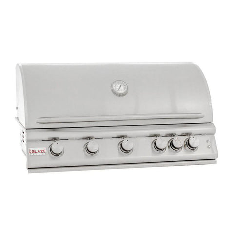 Blaze Premium LTE 40-Inch Propane Gas Built-In 5 Burner Grill with Infrared Rear Burner and Lights - BLZ-5LTE2-LP