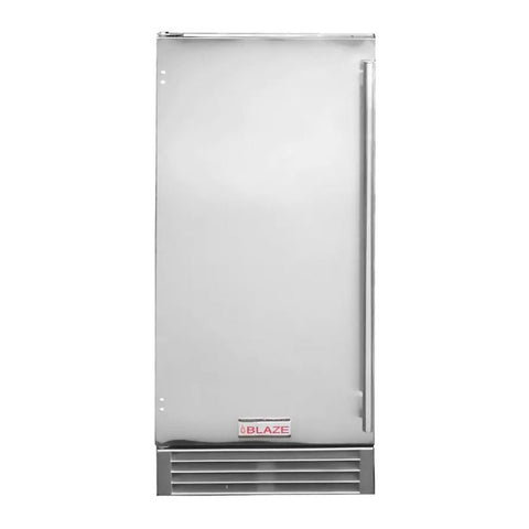 Blaze 15-Inch Stainless Steel 50 Lb. Outdoor Ice Maker with Gravity Drain - BLZ-ICEMKR-50GR